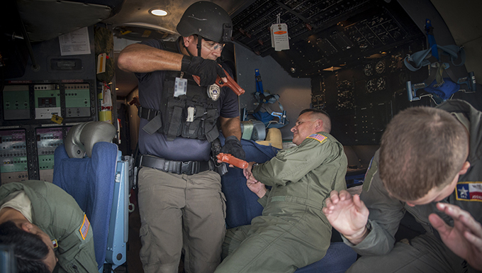 Alamo Wing exercises anti-hijacking procedures