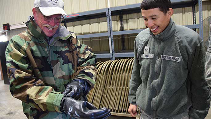 Honorary commanders brave cold weather to learn support mission