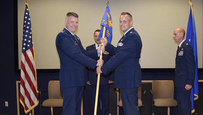 Mulkey takes command of 733rd TRS